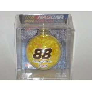 ) NASCAR Color Filled Glass CHRISTMAS ORNAMENT
