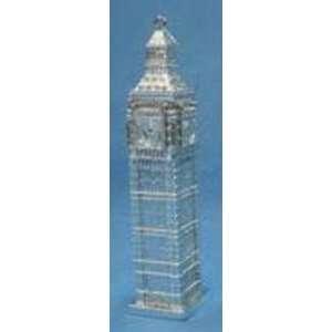 Silver Big Ben Clock Tower Landmark Christmas Ornament