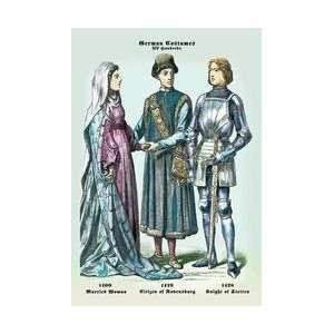German Costumes Married Woman Citizen Knight 20x30 poster