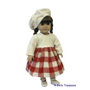 American Girl Doll Clothes Wool & Velour Dress Toys