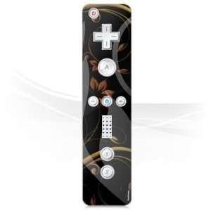 Design Skins for Nintendo Wii Controller   Black Nature Design