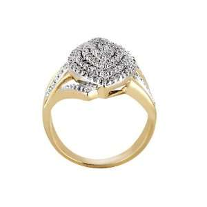 White Round Diamond Ring (1/2 ctw, G Color, SI2 I1 Clarity) Jewelry