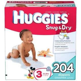 Huggies Snug & Dry Diapers Step 3   204 ct. Baby