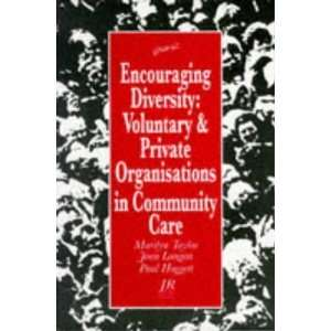 Encouraging Diversity Voluntary and Private Organizations
