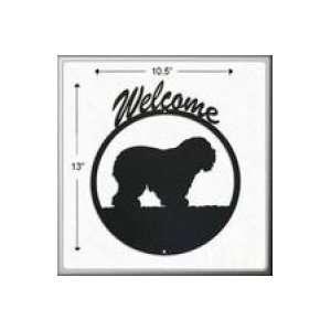 Old English Sheepdog Welcome Sign Patio, Lawn & Garden