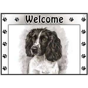 English Springer Spaniel Welcome Sign Patio, Lawn