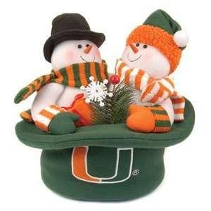 Miami Hurricanes Snowmen Top Hat