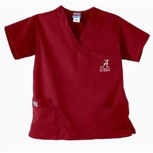 Alabama Crimson Tide NCAA GelScrubs 5 Pocket Top (Crimson)
