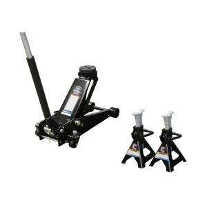 Mountain (MTN5506AJ) 3 1/2 Ton Floor Jack Pack with 3 Ton Jack Stands