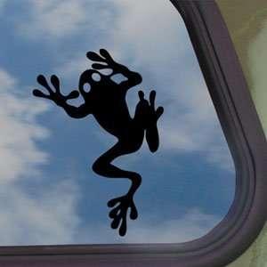 FROG FROGGY TODD TADD POLE Black Decal Window Sticker