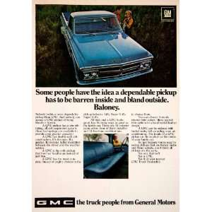 1968 Ad GMC General Motors Truck Pickup Couple Automobile