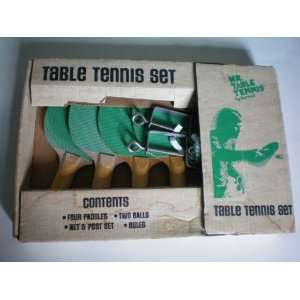 Mr. Table Tennis Set    [Ping Pong ] 4 Paddles, 2 Balls, Net and Post