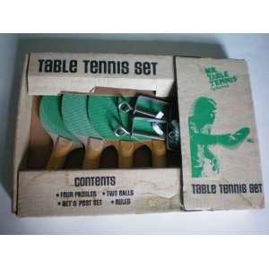 Mr. Table Tennis Set    [Ping Pong ] 4 Paddles, 2 Balls, Net and Post