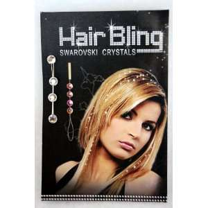 Swarovski Crystal Hair Extention Gems Beauty