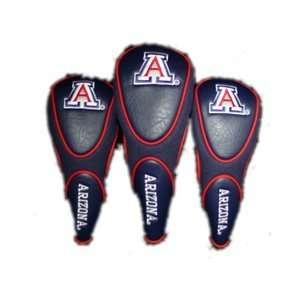Arizona Wildcats College NCAA Golf Zippered Head Covers Set of 3