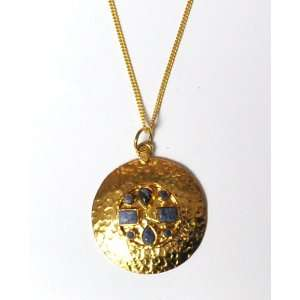 SKU Jewelry Good Luck Gold Plated Pendant Neckalce with