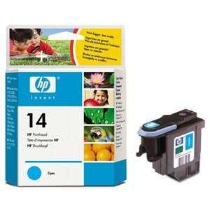 Genuine Hewlett Packard C4921A HP 14 Cyan Ink Printhead Electronics