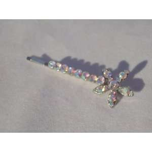 NEW Clear AB Crystal Flower Hair Pin, Limited. Beauty