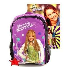 Hannah Montana Backpack+Decal Sticker Book