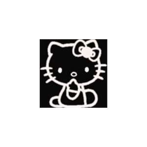 Hello Kitty Sticker sitting White Decal 5