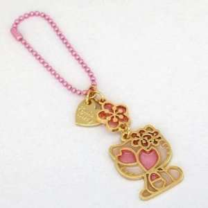 Sanrio Hello Kitty Sakura Cherry Blossom Ball Chain Charm