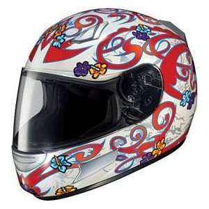 HJC CL SP CLSP LOLA MC1 WHITE/RED/SILVER MOTORCYCLE Full Face Helmet