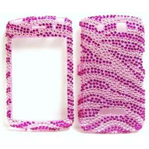 New Pink Hot Pink Zebra Sparkling Rhinestones Full Diamond