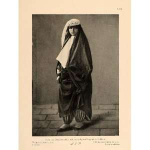 1926 Iranian Persian Woman Costume Unveiled Iran Print