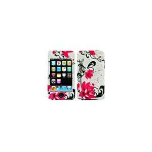 Hot Pink Flower Snap on Hard Skin Faceplate Cover Case for Apple Ipod