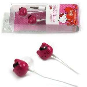 Pink Hello Kitty Style Earphones for  Players/MP4/iTouch/CD Players