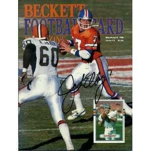 John Elway Autographed Signed Broncos Beckett Magazine