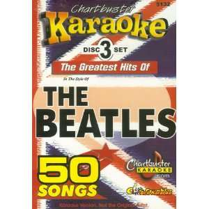Chartbuster Karaoke CDG 3 Disc Pack CB5132   The Beatles