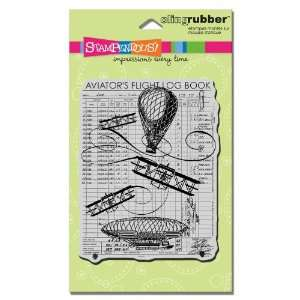 Cling Rubber Stamp, Flying Machines Image Arts, Crafts & Sewing