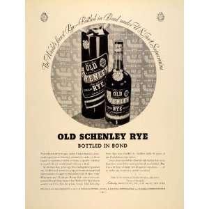 Old Schenley Rye Whiskey Liquor   Original Print Ad