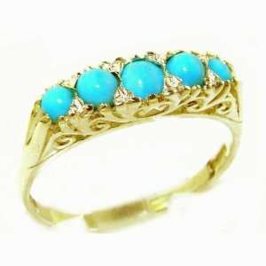 com Luxury Solid Yellow Gold Turquoise Victorian Style Eternity Ring