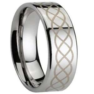 8MM Mens or Ladies Tungsten Carbide Ring Wedding Band