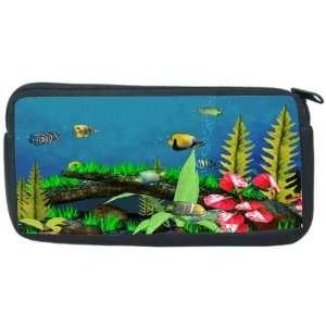 Tropical Fish in Tank Design Neoprene Pencil Case   pencilcase   Ipod