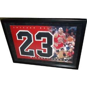 Michael Jordan Professionally Framed Numbers Piece with Jordan