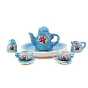 Collectible Aiden Miniature Tea Set Kitchen & Dining