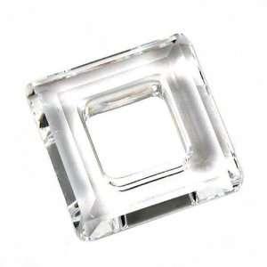 Crystal Swarovski Crystal Square Frame Charm 14mm New