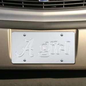 Crimson Tide Silver Mirrored Alabama Girl License Plate Automotive