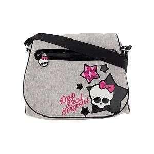 Monster High Drop Dead Gorgeous Grey Messenger Bag   Soft Brush Fabric