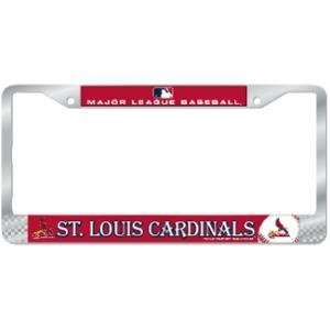 Louis Cardinals MLB Chrome License Plate Frame