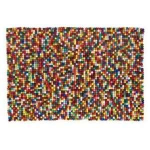Kids Rugs Kids Multi   colored Wool Dot Rug