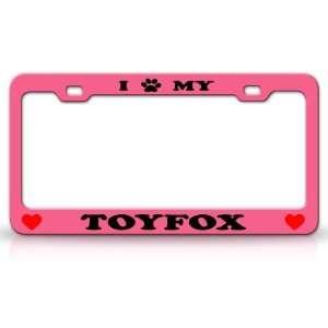 Animal High Quality STEEL /METAL Auto License Plate Frame, Pink/Black