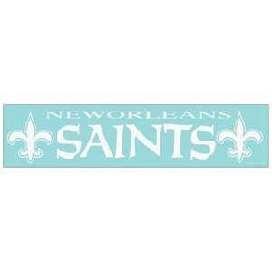 NFL New Orleans Saints 4x16 Die Cut Decal Sports