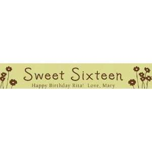 Personalized 6 Inch Mini Desk Sign   Flowers