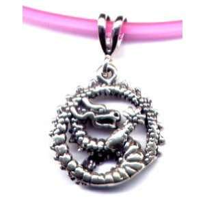 16 Pink Dragon Necklace Sterling Silver Jewelry Sports