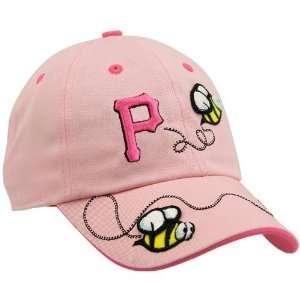 Pittsburgh Pirates Girls Pink Bumble Bee Adjustable Hat Sports