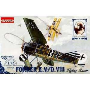 72 Fokker E.V Flying Razor (Plastic Model Airplane) Toys & Games